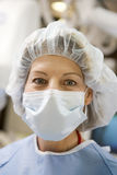 Portrait Of Surgeon In Surgical Scrubs Stock Image