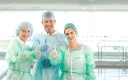 Portrait of surgeon team Stock Image