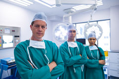 Portrait of surgeons team in operation theater Stock Photography