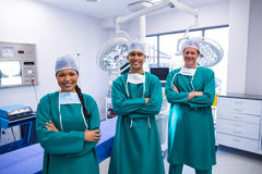 Portrait of surgeons team in operation theater Royalty Free Stock Photography