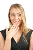 Portrait of surprised attractive businesswoman Royalty Free Stock Photography