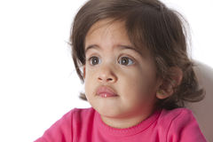 Portrait of a surprised baby girl Royalty Free Stock Photos