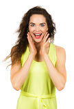 Portrait of surprised beautiful woman Stock Photo