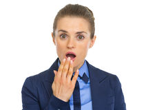 Portrait of surprised business woman Stock Images
