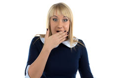 Portrait of surprised business woman Royalty Free Stock Image