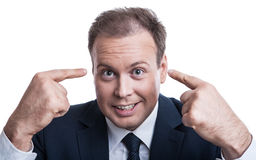 Portrait of surprised businessman Royalty Free Stock Image