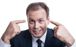 Portrait of surprised businessman Royalty Free Stock Image