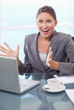 Portrait of a surprised businesswoman Stock Images