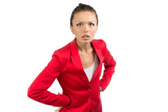 Portrait of surprised businesswoman Stock Image