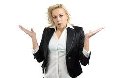 Portrait of surprised businesswoman Stock Photos