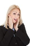 Portrait of surprised businesswomen Stock Photography