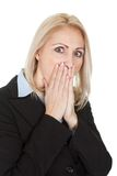 Portrait of surprised businesswomen Stock Image