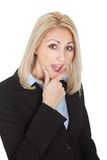 Portrait of surprised businesswomen Royalty Free Stock Photos