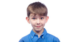 Portrait of a surprised child Stock Photography