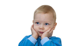 Portrait of surprised child isolated Royalty Free Stock Photography