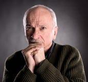 Portrait of surprised elderly man Royalty Free Stock Image