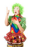 Portrait of surprised female clown Royalty Free Stock Photo