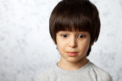 Surprised little boy Stock Image