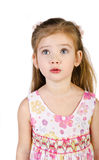 Portrait of surprised little girl isolated Royalty Free Stock Photography