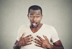Portrait of surprised man Stock Photo