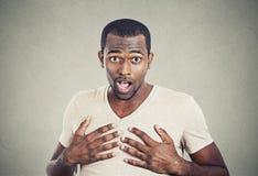 Portrait of surprised man Stock Photo