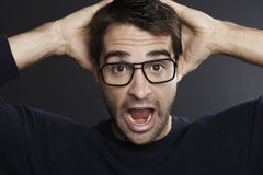 Portrait of surprised man Stock Photography
