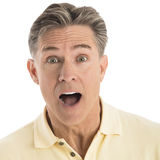 Portrait Of Surprised Mature Man Royalty Free Stock Image