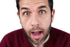 Surprised young man Royalty Free Stock Image