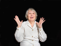 The portrait of a surprised old woman Royalty Free Stock Photography
