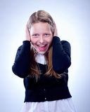 Portrait of a surprised teen girl stock image