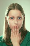 Portrait of a surprised teen girl Royalty Free Stock Images