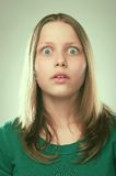 Portrait of a surprised teen girl Stock Photo