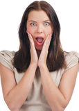 Portrait of surprised woman Royalty Free Stock Photography