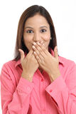 Portrait of surprised woman Stock Photo