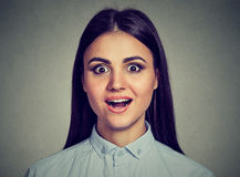 Portrait of a surprised woman Royalty Free Stock Image