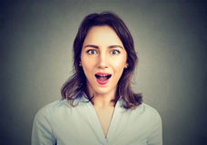Portrait of a surprised woman Royalty Free Stock Photography