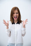 Portrait of a surprised young business woman Royalty Free Stock Photo