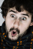 Portrait of surprised young man Royalty Free Stock Photography