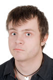 Portrait of the surprised young man Stock Image