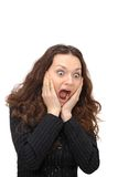 Portrait of surprised young woman Stock Image