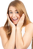 Portrait of surprised young woman Royalty Free Stock Photo