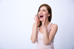 Portrait of a surprised young woman Stock Photo