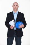 Portrait of a surveyor Stock Images