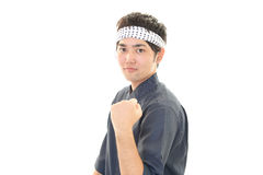 Portrait of a sushi chef Stock Image