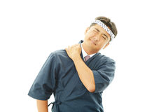 Portrait of a sushi chef Stock Photos