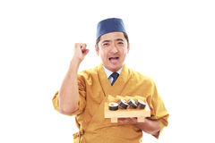 Portrait of a sushi chef Stock Photography