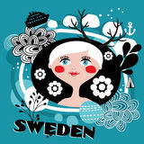 The portrait of Swedish girl. Royalty Free Stock Photography