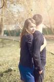 Portrait of sweet couple in love Stock Photos