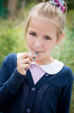 Portrait of sweet girl with lollipop Stock Photography