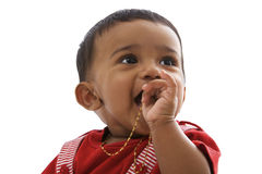Portrait of sweet indian baby, looking right Royalty Free Stock Image